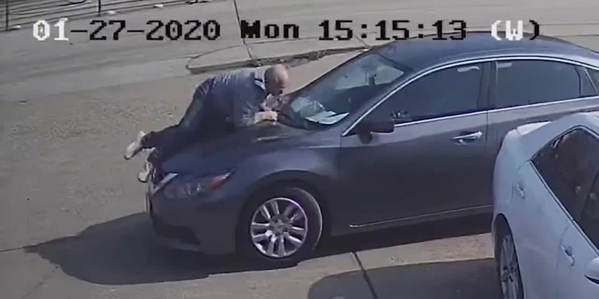 Police searching for Houston driver who fled scene after man jumped on, fell off his car hood