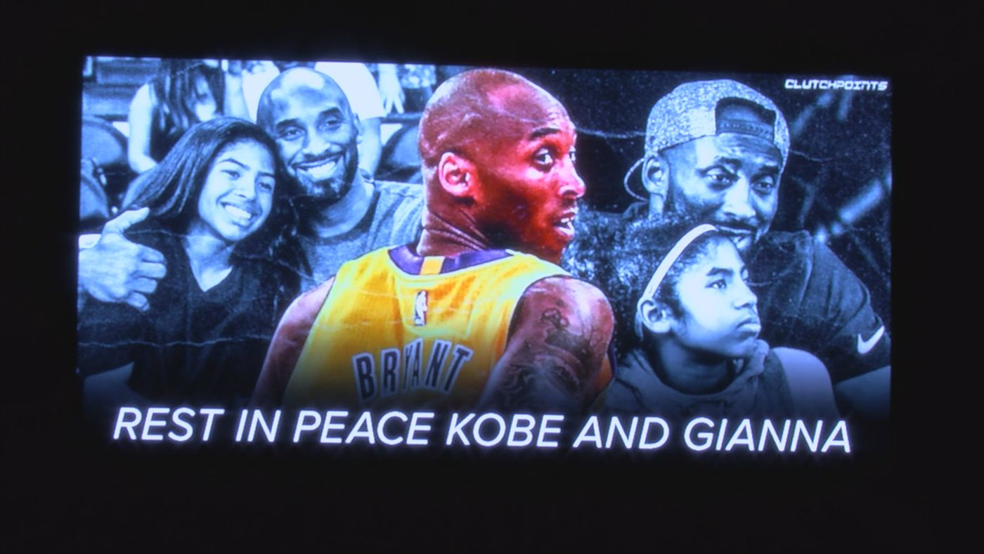 On Tuesday, the city of Louisville joined in and paid tribute to Kobe Bryant and his daughter Gianna, two of the nine people that died in a helicopter crash in Calabasas, California on Sunday.