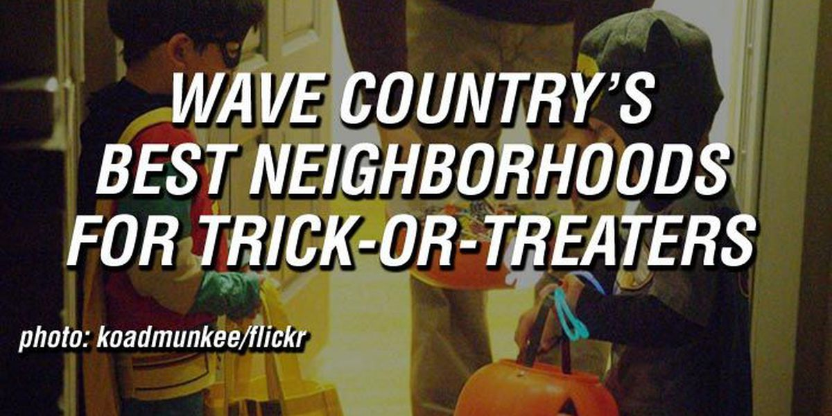 LIST: Top 10 local neighborhoods for trick-or-treaters