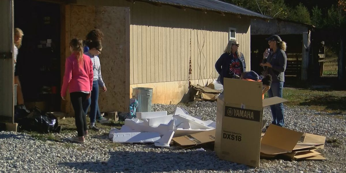 FBLA students help cleanup Active Heroes Retreat Center
