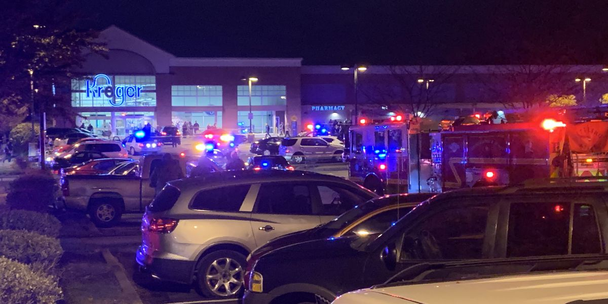 Kroger shooting: Suspect coming out of store fires at officers before they shoot him dead