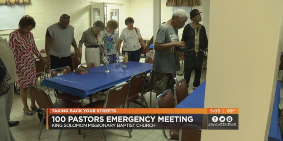 100 pastors call emergency meeting to address Louisville's violence epidemic