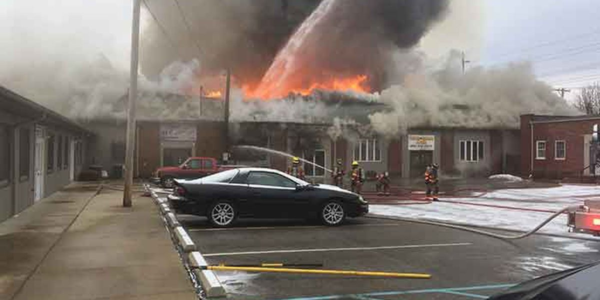 2 Columbus, IN firefighters injured fighting 4-alarm fire