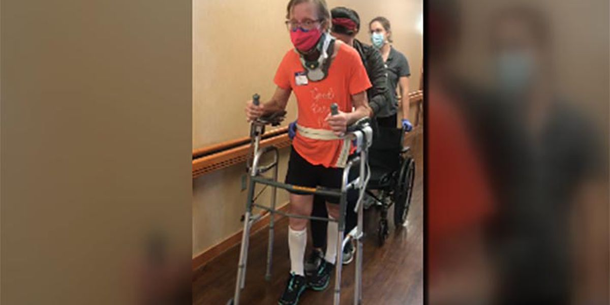 Louisville woman learns how to walk again for son's wedding
