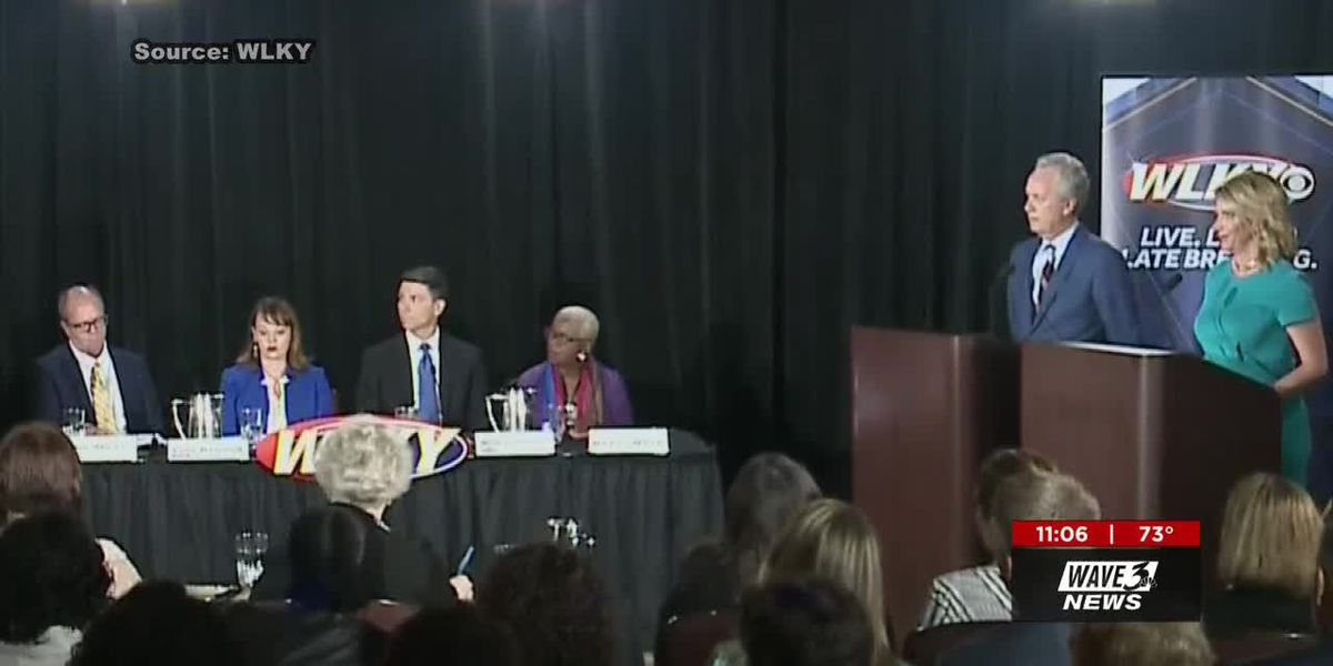 Mayoral candidates describe plans for Louisville in first debate