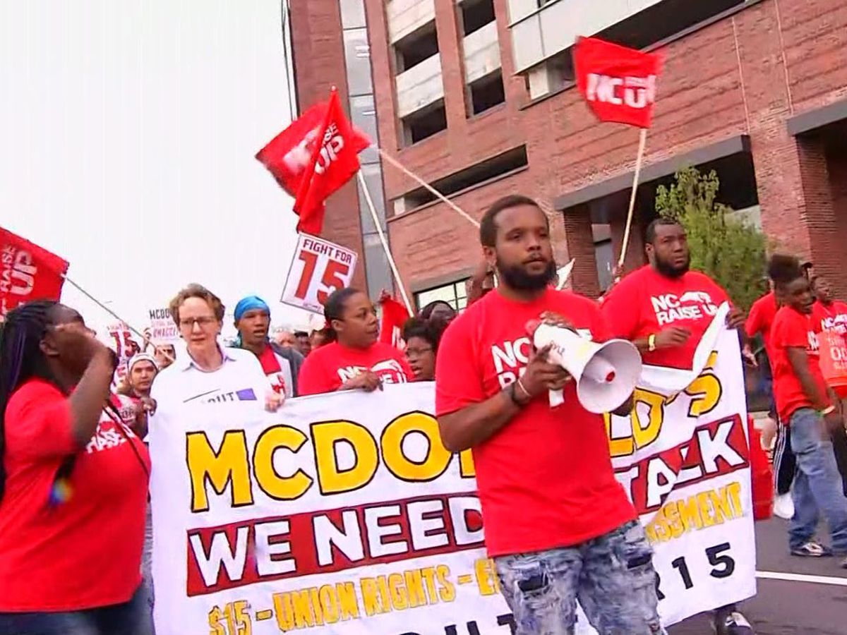 McDonald's workers demand $15 an hour in rallies across nation