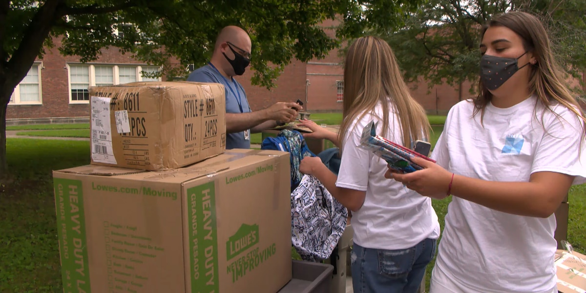 JCPS students gather school supplies for donations to surrounding communities