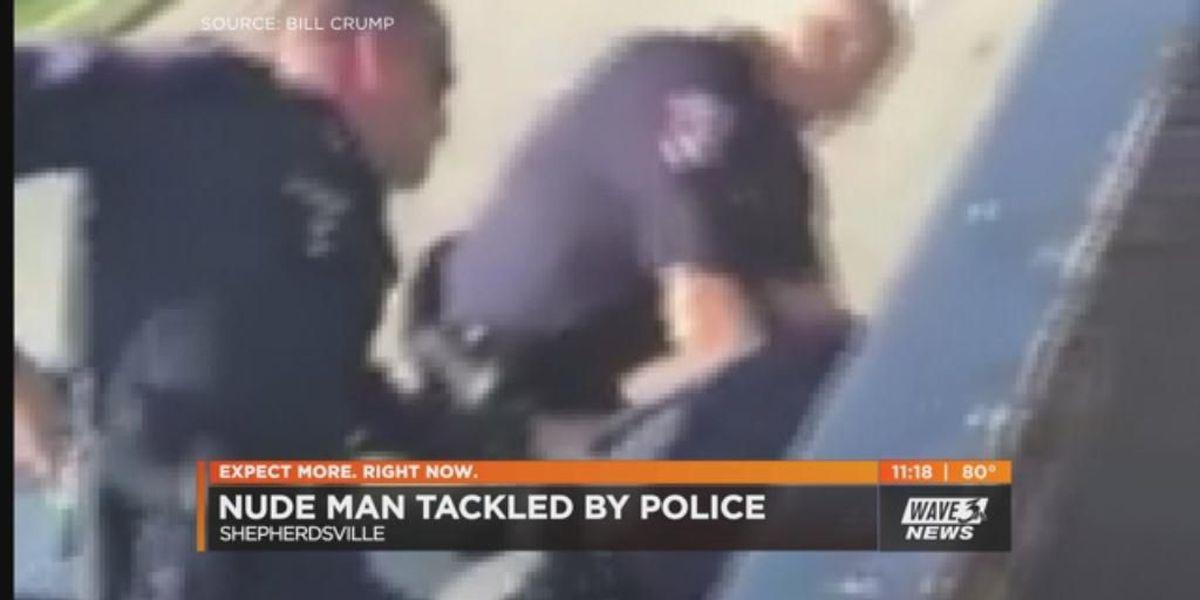 Shepherdsville Police detain naked man