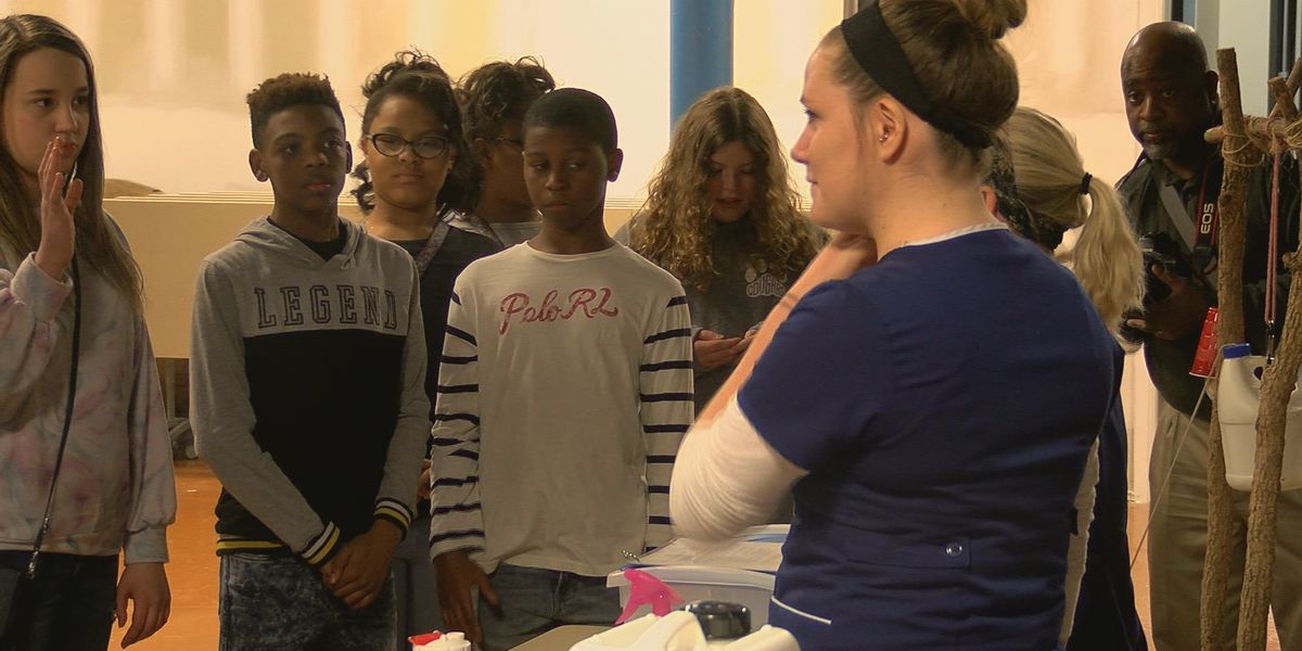 Local students learn hand washing tips from WaterStep