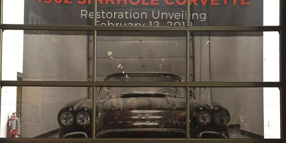 Restored 1962 Corvette unveiled on 4th anniversary of Museum Sinkhole