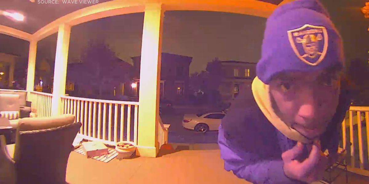 Police looking for man 'up to no good' seen on doorbell camera