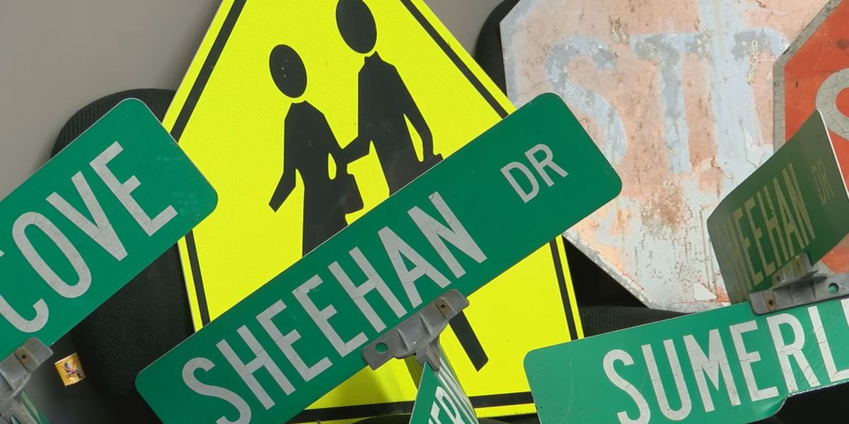 Police: 80 street signs stolen as part of social media challenge in Oldham Co.