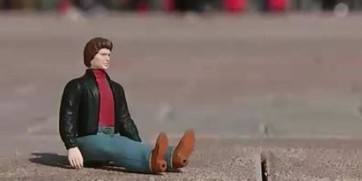 Man takes Hasselhoff action figure to every Olympics