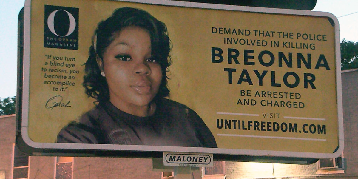 Oprah Winfrey says Breonna Taylor billboards organized in Louisville are her 'form of protest'