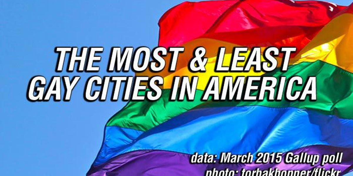 LIST: The gayest & least gay cities in America