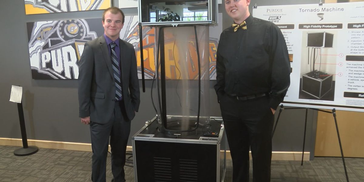 Purdue Polytechnic New Albany creates tornado machine for WAVE 3 Weather Team
