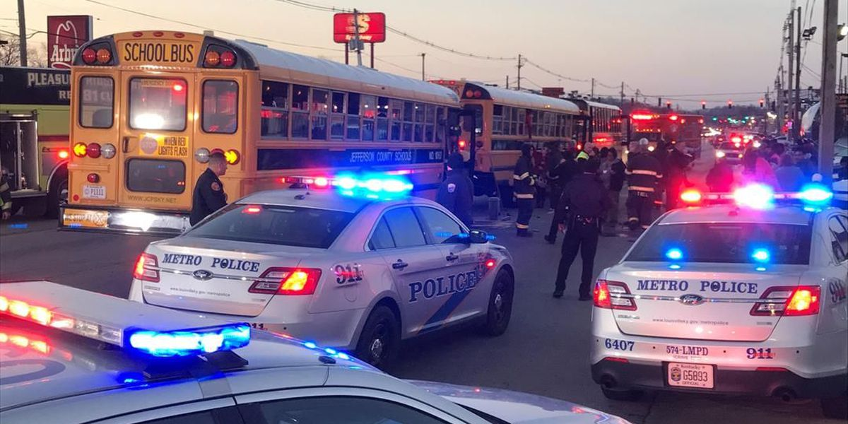 41 students injured in crash involving 3 JCPS buses