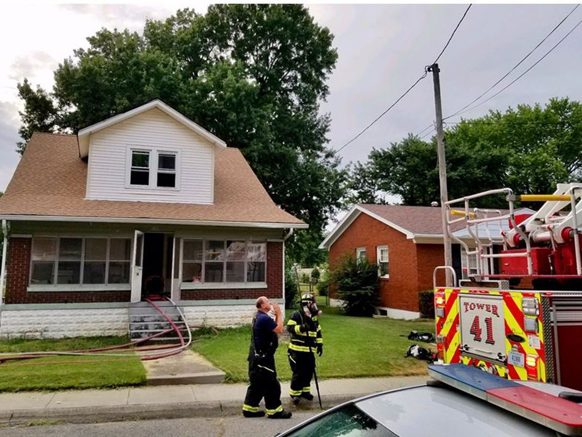 Firefighters save 2 dogs from Jeffersonville fire