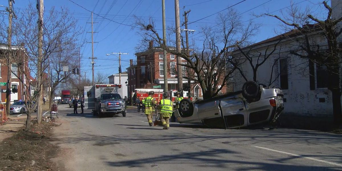 Ambulance involved in crash in Russell neighborhood