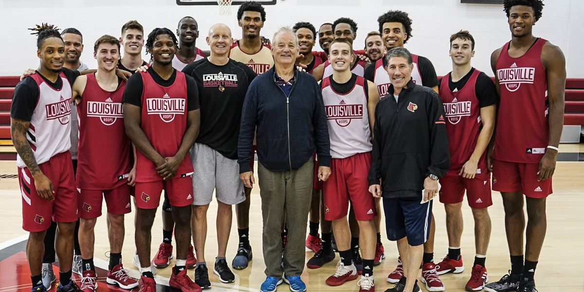 That's the fact, Mack! Bill Murray visits UofL hoops practice