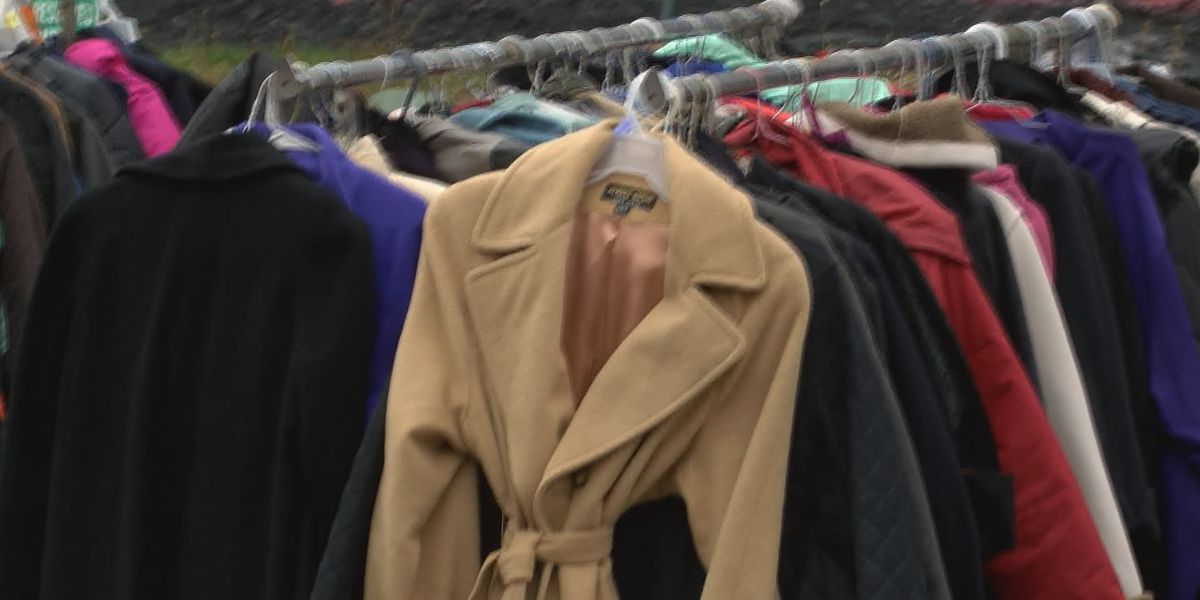 Free coat exchange offers those in need a coat for the winter
