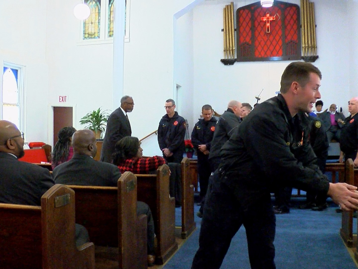 Fire crews honored at local church saved from burning down in November