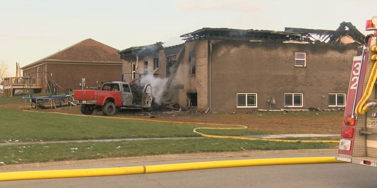 Truck catches on fire, crashes into home in Mt. Washington