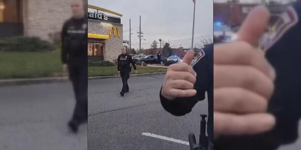 Jeffersontown police release body camera video involving livestreamer at McDonald's