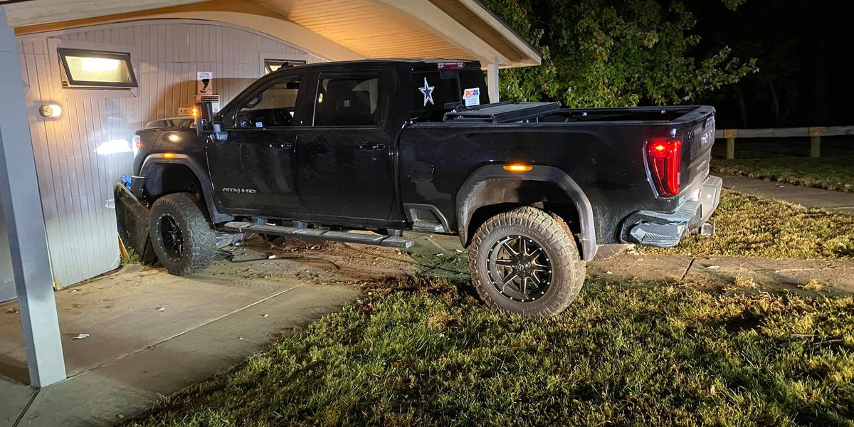 Stolen truck from Nelson County found slammed into side of restrooms at Taylorsville Lake