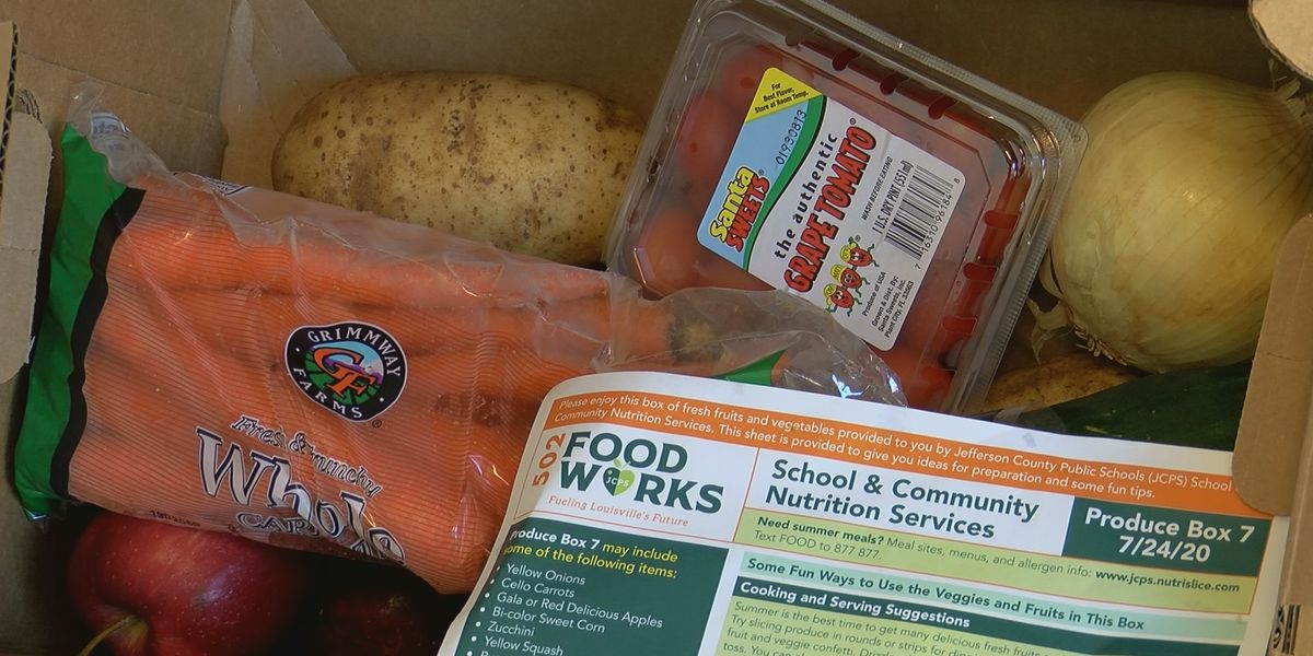 JCPS produce distribution ends this week, meals continue