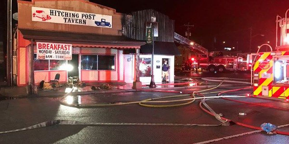 Landmark tavern damaged by fire in downtown New Albany