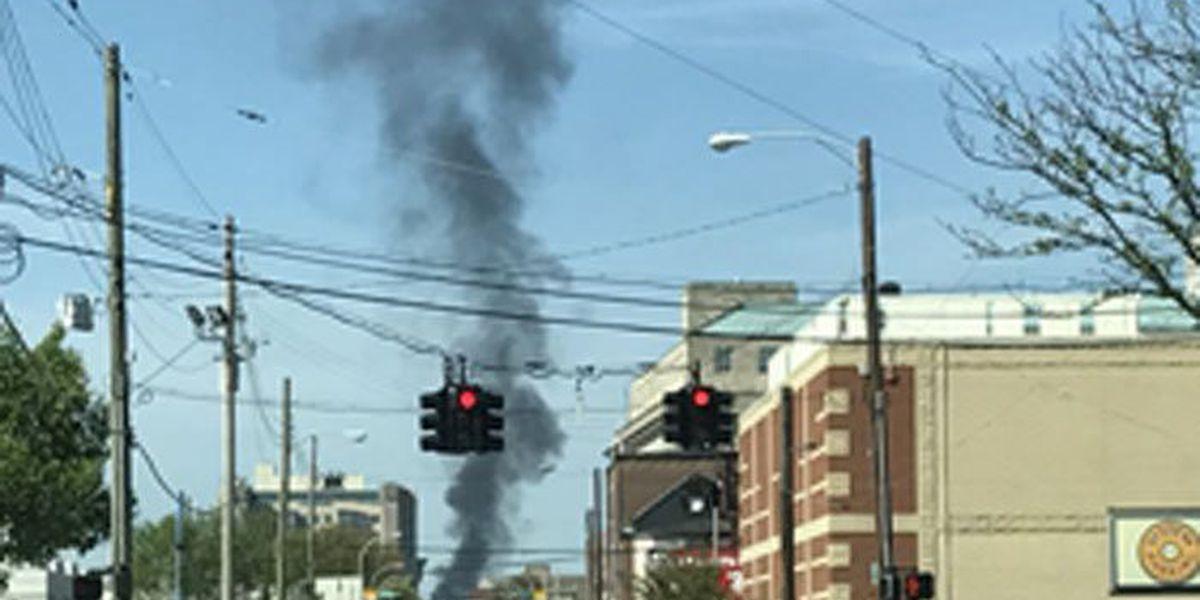 Crews battle big flames at RV lot in Clarksville