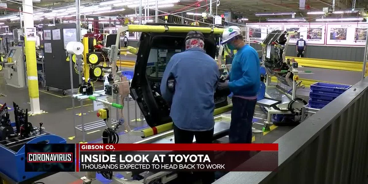 Toyota Indiana welcomes workers back; implements new coronavirus safety precautions