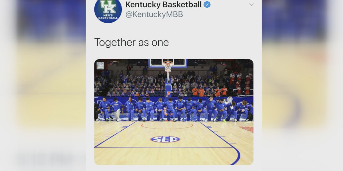 UK players discuss decision to kneel for National Anthem