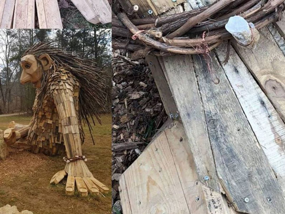 Positively WAVE: Artist's supporters vow to bring new stones to vandalized Forest Giants installation