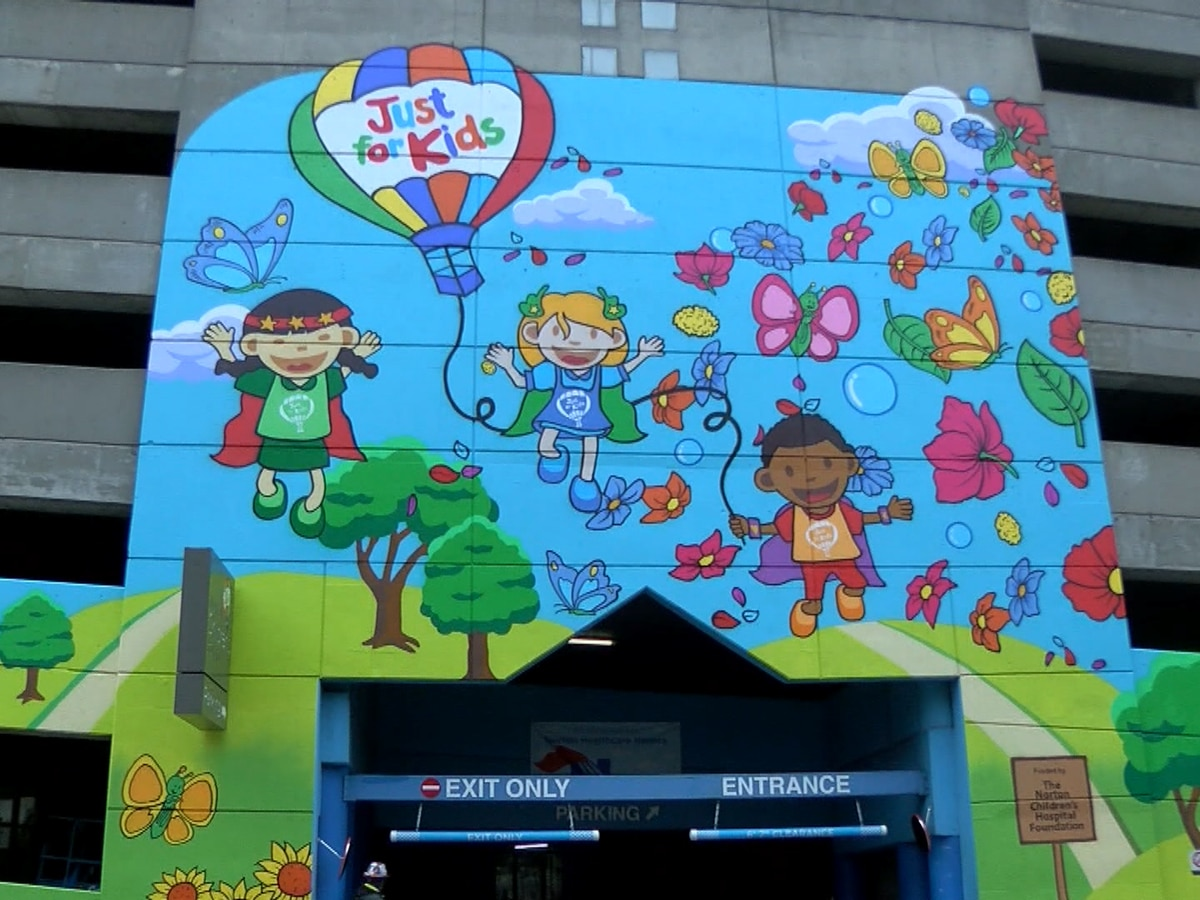 Norton Children's Hospital, local artists unveil parking garage mural