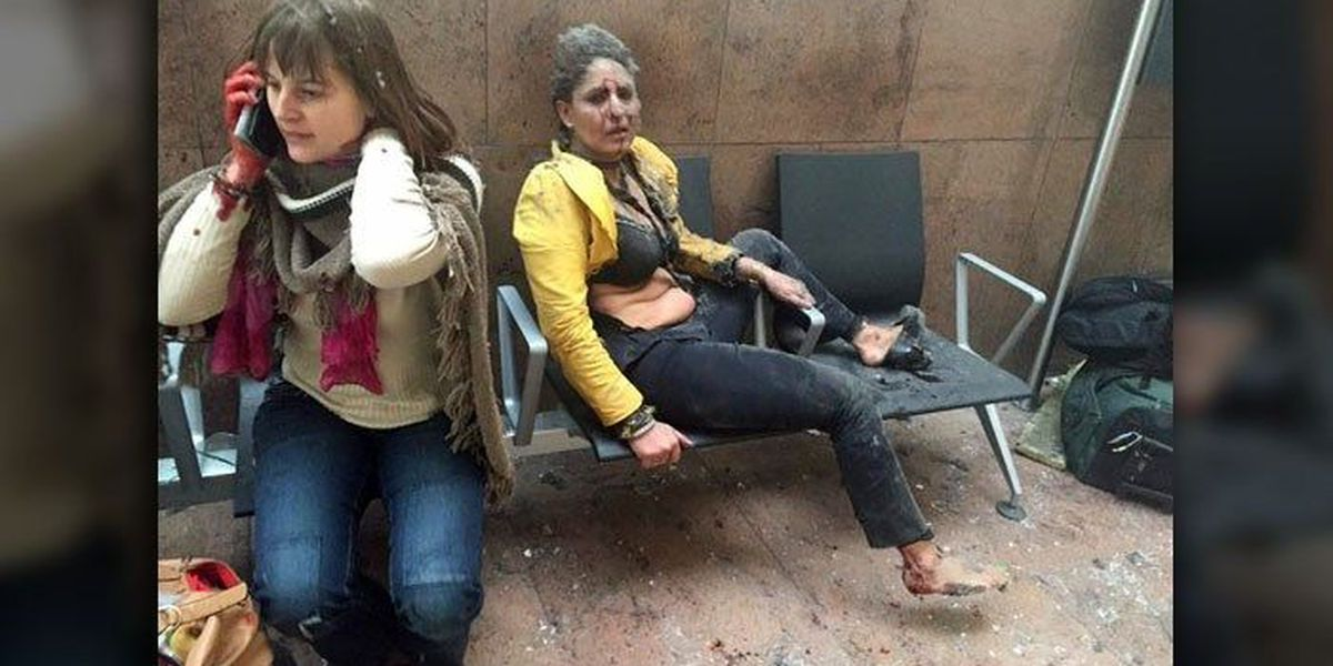 Graphic Images: Deadly explosions rock Brussels