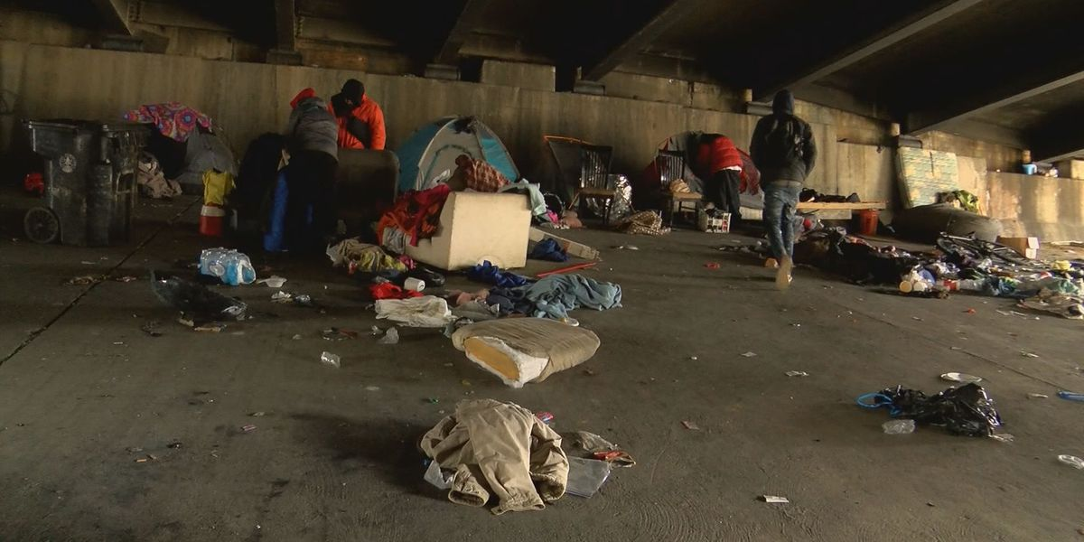 Louisville resident takes on cleanup of homeless camp