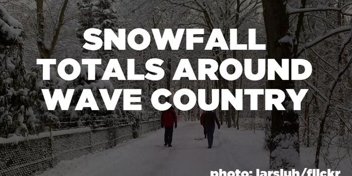 SNOWFALL TOTALS: How much did your area get?