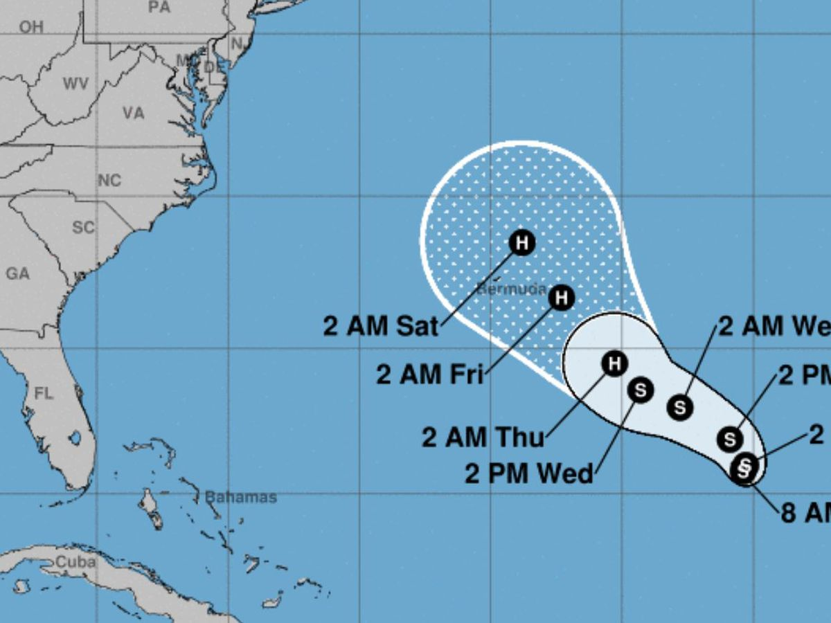 New tropical depression forms over central Atlantic