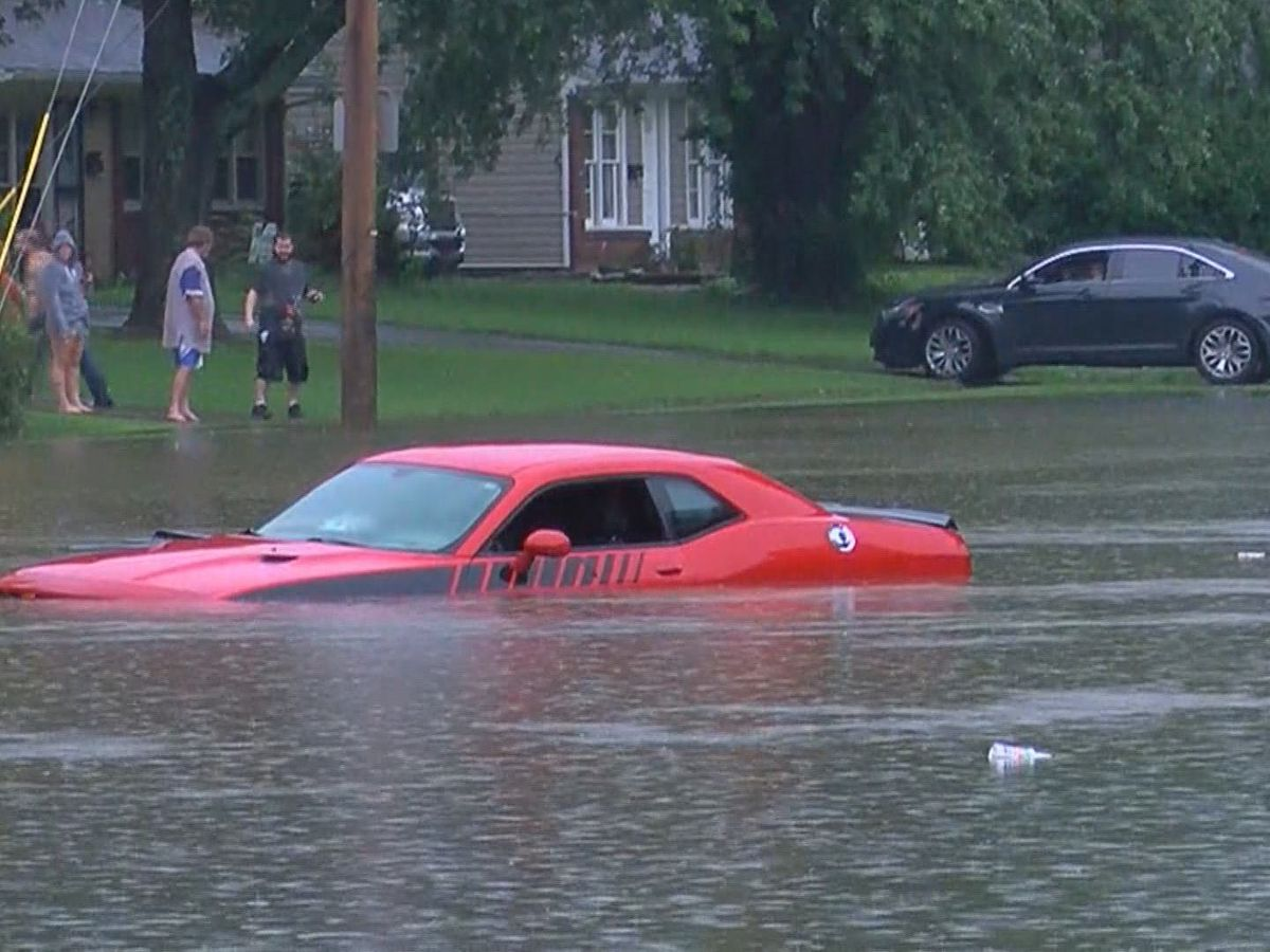 Floodwaters cause problems for drivers Friday in Louisville
