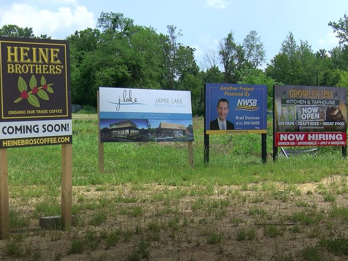 Near the I-265 interchange, Jeffersonville's landscape transformed by year of growth, new business