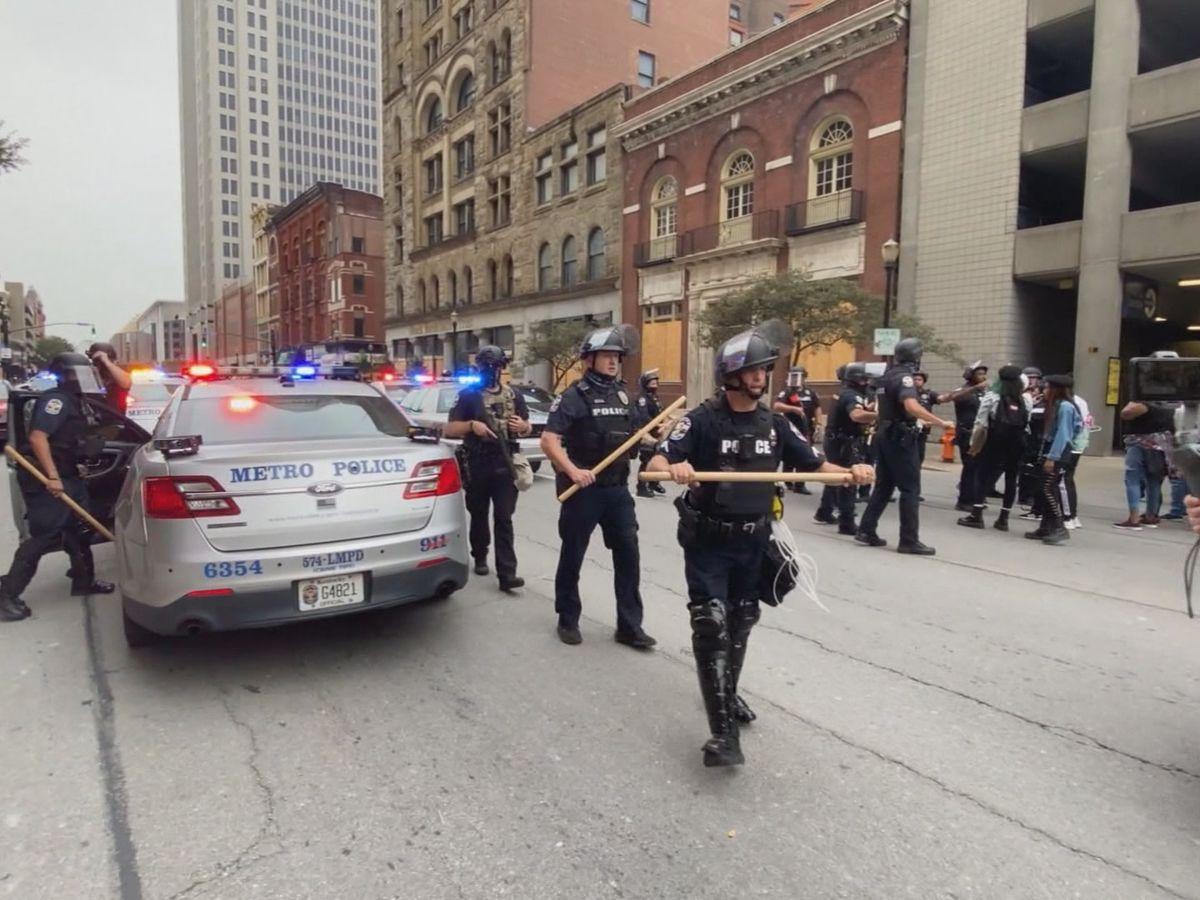 Louisville protesters condemn Kentucky Senate bill criminalizing police insults