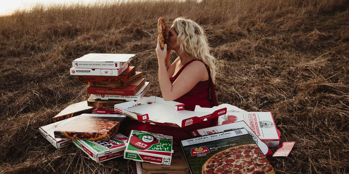 PHOTOS: KY woman loves pizza... literally!
