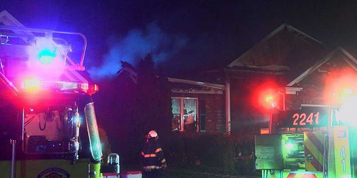 PRP home heavily damaged by fire