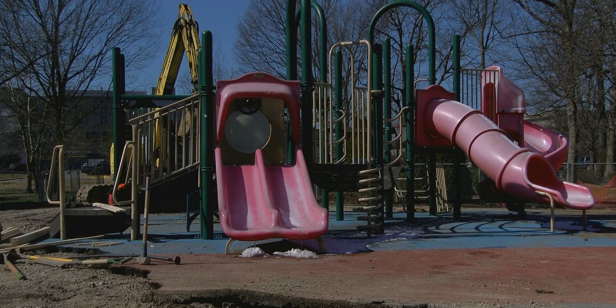 Old playground equipment removed from Brown Park, travels thousands of miles to children in need