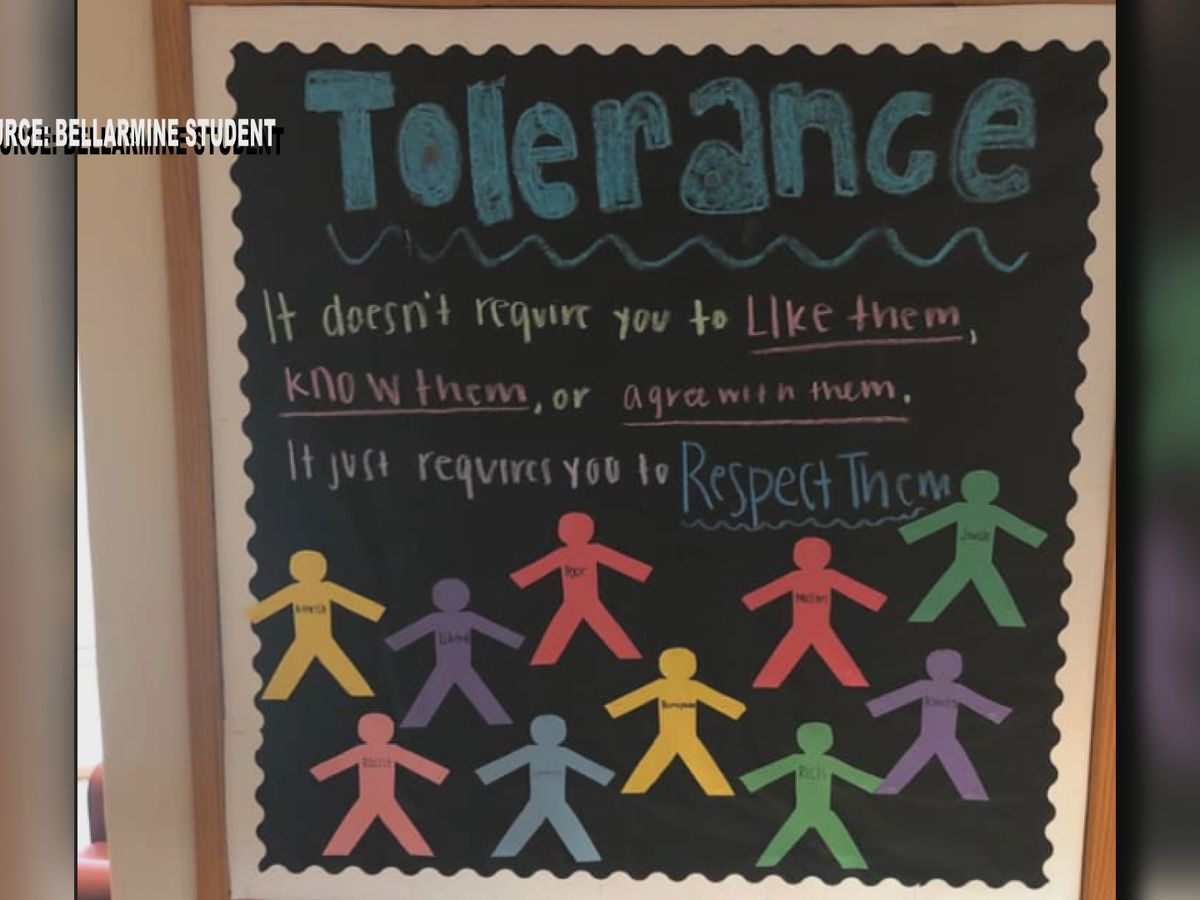 Bellarmine students question bulletin board promoting support of racists, homophobes