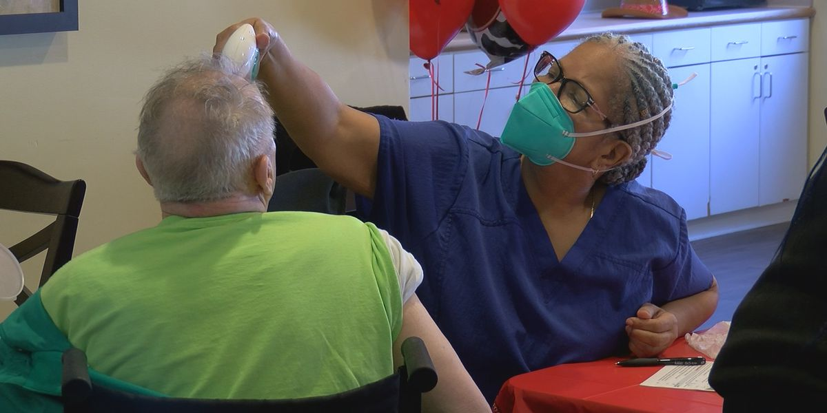 Long-term care facility distributes vaccine to residents during 'vaccination celebration'