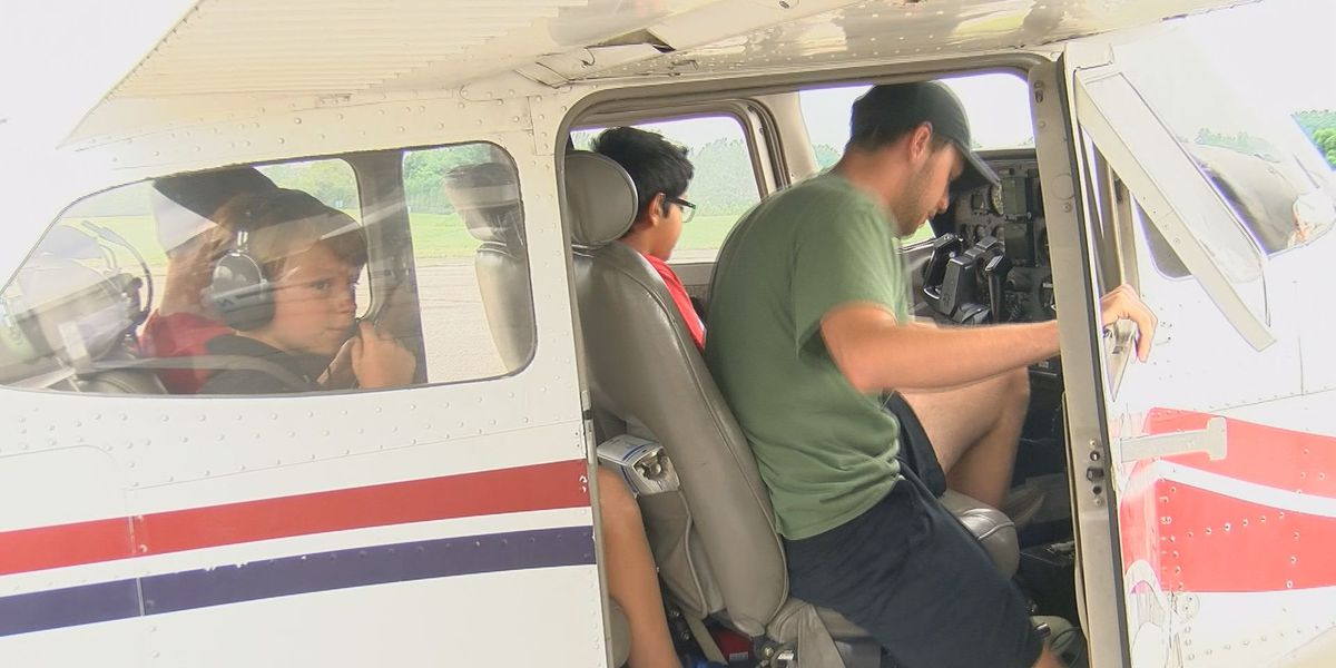 Aviation camp allows kids chance to fly planes