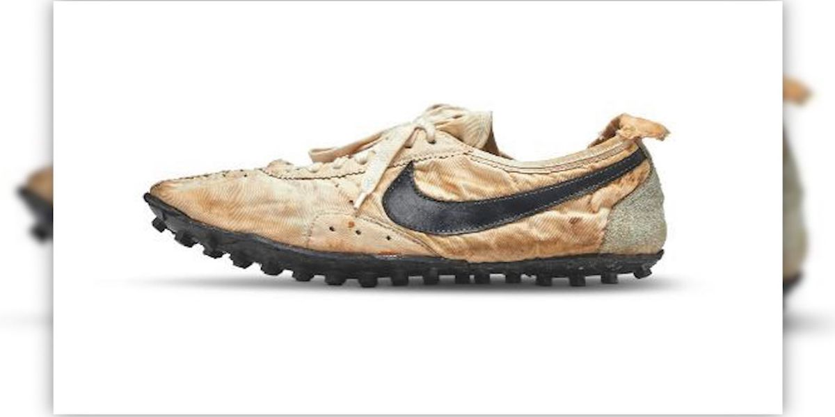 Pair of Nike's 'Moon Shoes' sold for record $437,500